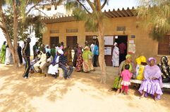 Senegal 2012 Presidential elections voting Stock Image