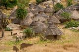 Senegal Andyel Hut. Africa Architecture Royalty Free Stock Photography