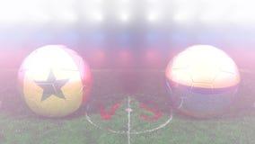 Senegal contra Colombia, mundial 2018 de la FIFA Vídeo original 3D stock de ilustración