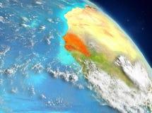 Senegal de la órbita stock de ilustración