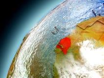 Senegal de la órbita de Earth modelo Foto de archivo libre de regalías