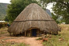 Senegal Dindefelo Hut. Architecture Africa Royalty Free Stock Photos