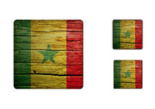 Senegal Flag Buttons Stock Photography