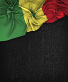 Senegal Flag Flag Vintage on a Grunge Black Chalkboard  Royalty Free Stock Photography