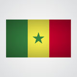 Senegal flag on a gray background. Vector illustration Royalty Free Stock Images