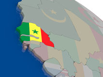 Senegal with flag Royalty Free Stock Photos