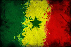 Senegal flag Royalty Free Stock Images
