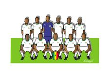 Senegal football team 2018. Qualified for the 2018 world cup in Russia Royalty Free Stock Photography