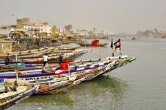 Senegal Saint Louis fishing market Royalty Free Stock Images