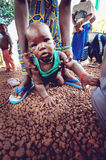 SENEGAL - SEPTEMBER 17: Baby from the Bedic ethnicity, the Bedic Stock Photo