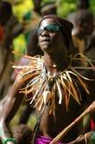SENEGAL - SEPTEMBER 19: Men and kids in the traditional struggle Stock Image