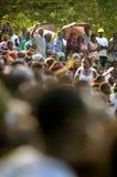 SENEGAL - SEPTEMBER 19: Men in the traditional struggle (wrestle Stock Photos