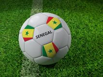Senegal soccer ball Royalty Free Stock Photography
