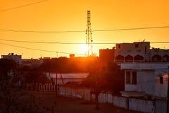 Senegal sunset Royalty Free Stock Photography