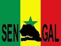 Senegal text with map Stock Photography