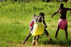 SENEGAL, WRZESIEŃ - 19: Mężczyzna w tradycyjnej walce (mocuje się fotografia stock