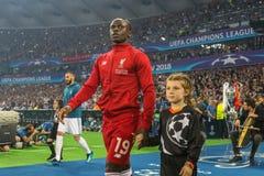 Senegalese professional footballer Sadio Mane. KYIV, UKRAINE – 26 MAY, 2018: Senegalese professional footballer Sadio Mane during the final match UEFA stock images