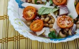 Senegals Black-eyed Pea Salad. Saladu Nebbe - Senegal's Black-eyed Pea Salad Stock Photo