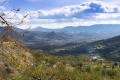 Взгляд от деревни Senes Стоковые Изображения RF