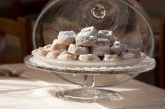 Senesi Cavallucci, χαρακτηριστικά γλυκά Χριστουγέννων με τα ξύλα καρυδιάς στοκ φωτογραφία με δικαίωμα ελεύθερης χρήσης