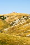 Senesi de Creta, paisaje característico en el d'Orcia de Val Imagenes de archivo