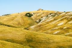 Senesi de Creta, paisaje característico en el d'Orcia de Val Imágenes de archivo libres de regalías