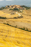 Senesi di Creta, scenario naturale in d'Orcia di Val Immagine Stock Libera da Diritti