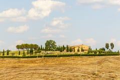 Senesi van Kreta, kenmerkend landschap in d'Orcia Val Royalty-vrije Stock Foto