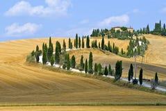 Senesi van Kreta, landschap in d'Orcia Val Stock Foto