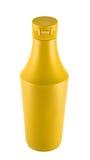 Senf souce platic Flasche über weißem Hintergrund Lizenzfreie Stockfotografie