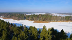 Senftenberg Meer in de winter, Lusatian-Meerdistrict royalty-vrije stock fotografie