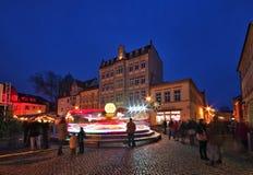 Senftenberg-Weihnachtsmarkt Stockbild