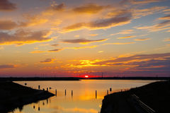Senftenberger Lake, nice sunset Royalty Free Stock Images