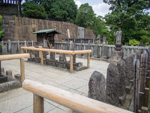 Sengakuji寺庙,东京,日本,坟墓47 Ronins 库存照片