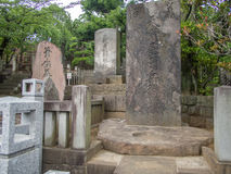 Sengakuji tempel, Tokyo, Japan, gravar av 47 Ronins Arkivfoton