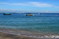 Senggigi strand av Lombok, Indonesien Arkivbild