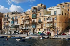 """Senglea, †di Malta """"1° ottobre 2013 Una costruzione in Senglea Immagine Stock"""