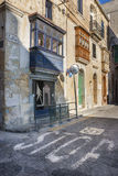 Senglea. An urban scene in Senglea, in Maltese L-Isla, a fortified city on the island of Malta, Southern Europe Stock Photo