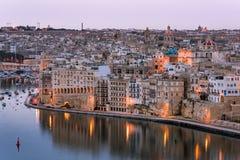 Senglea en Grote Haven, Malta Royalty-vrije Stock Foto's
