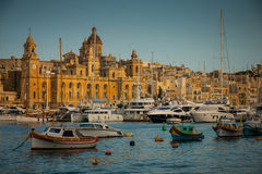Senglea harbor Royalty Free Stock Images