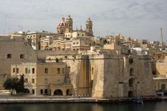 Senglea L`Isla, Malta. Senglea is part of the Three Cities in Malta at the Grand Harbour Royalty Free Stock Images