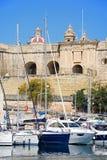 Senglea strandbyggnader, Malta Royaltyfri Fotografi
