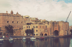Senglea. Three cities, Malta. View of Senglea from Vittoriosa. Three cities, Malta Royalty Free Stock Image