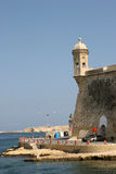 Senglea Vedette, grande porto, Malta Fotografia Stock