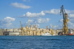 Senglea waterfront in the Grand Harbour, Malta Royalty Free Stock Images