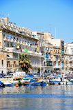 Senglea waterfront, Malta. Stock Photo