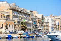 Senglea waterfront, Malta. Royalty Free Stock Photo