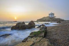 Senhor da igreja da pedra em Porto, Portugal Foto de Stock Royalty Free