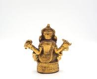 Senhor de brilho metálico do ganesha do ouro do sucesso Foto de Stock