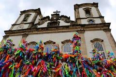 Senhor fa la chiesa di Bonfim in Salvador, Bahia nel Brasile Fotografie Stock Libere da Diritti